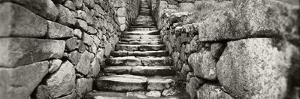 Ruins of a Staircase at an Archaeological Site, Inca Ruins, Machu Picchu, Cusco Region, Peru