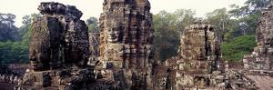 Ruins of a Temple, Bayon Temple, Angkor Thom, Siem Reap, Angkor, Cambodia