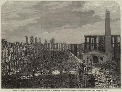 Ruins of Colonel Colt's Patent Firearms Factory at Hartford