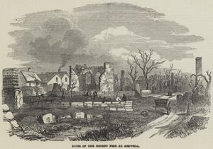 Ruins of the Recent Fire at Ashwell
