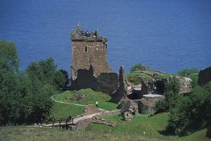 Ruins of Urquhart Castle on Banks of Loch Ness, Drumnadrochit, Scotland, United Kingdom