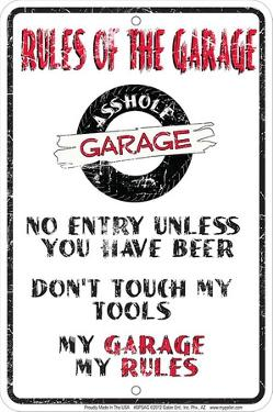 Rules Of The Garage