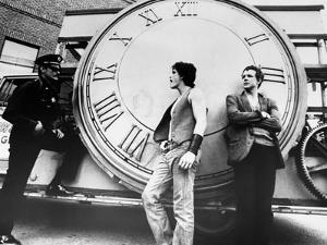RUMBLE FISH, 1983 directed by FRANCIS FORD COPPOLA Matt Dillon and Mickey Rourke (b/w photo)