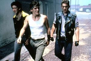 RUMBLE FISH, 1983 directed by FRANCIS FORD COPPOLA Nicolas Cage, Matt Dillon and Chris Penn (photo)