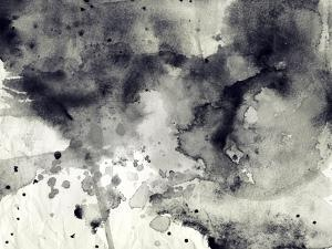 Abstract Black And White Ink Background by run4it