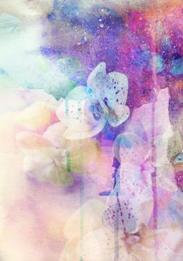 Abstract Floral Background- Watercolor Grunge Texture by run4it