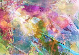 Abstract Grunge Texture With Watercolor Paint Splatter by run4it