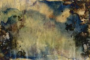 Abstract Hand Painted Watercolor Background on Grunge Paper Texture by run4it