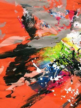 Red Abstract Painting With Expressive Brush Strokes by run4it
