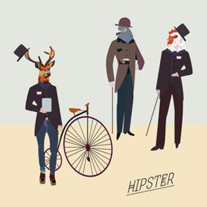 Retro Animals Hipster Like by run4it