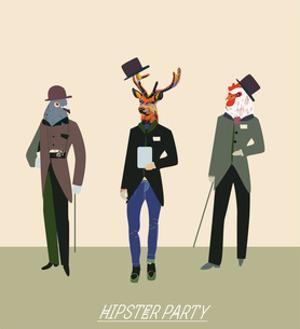 Vintage Hipsters Trendy Illustration by run4it