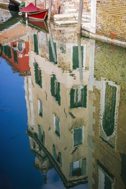 Canal reflections, Venice, Veneto, Italy by Russ Bishop
