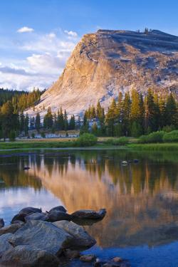 Evening Light on Lembert Dome and the Tuolumne River, Tuolumne Meadows Area, California, Usa by Russ Bishop