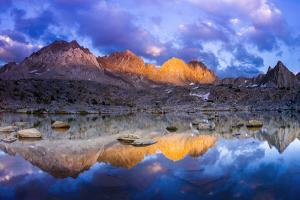Evening Light on the Palisades in Dusy Basin, Kings Canyon National Park by Russ Bishop