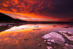 Evening Light over Tufa at Mono Lake, Mono Basin National Scenic Area, California Usa by Russ Bishop