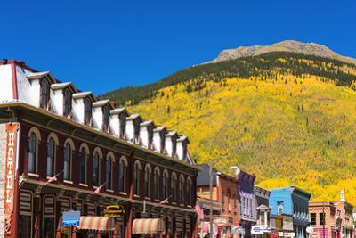 Historic downtown and fall color, Silverton, Colorado, USA by Russ Bishop