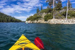 Kayaking in Emerald Bay, Emerald Bay State Park, Lake Tahoe, California, USA by Russ Bishop
