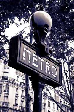 Metro Sign, Paris, France by Russ Bishop
