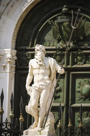 Neptune statue at the entrance to the Arsenal, Venice, Veneto, Italy by Russ Bishop
