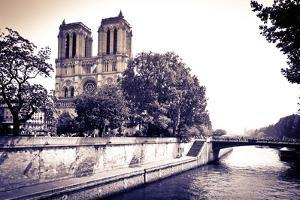 Notre Dame Cathedral and the Seine River, Paris, France by Russ Bishop