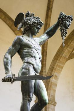 Perseus and Medusa statue at Loggia dei Lanzi, Florence, Tuscany, Italy by Russ Bishop