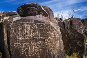 Petroglyphs at Three Rivers Petroglyph Site, Three Rivers, New Mexico, Usa by Russ Bishop