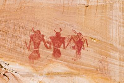 Pictograph panel along Calf Creek, Grand Staircase-Escalante National Monument, Utah, USA by Russ Bishop