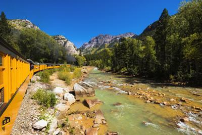 Railroad on the Animas River, San Juan National Forest, Colorado, USA by Russ Bishop
