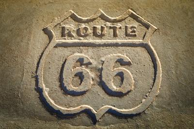 Route 66 Historic Sign, Petrified Forest National Park, Arizona, Usa by Russ Bishop