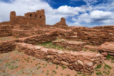 San Gregorio Church at Abo Ruins, Salinas Pueblo Missions. New Mexico, USA by Russ Bishop