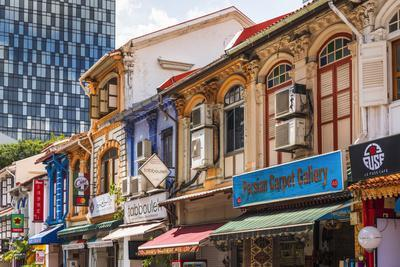 Shops on Arab Street in the Malay Heritage District, Singapore.