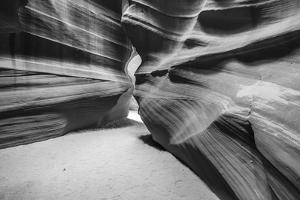 Slickrock formations in upper Antelope Canyon, Navajo Indian Reservation, Arizona, USA. by Russ Bishop