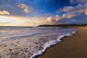Sunset and surf, Ventura, California, USA by Russ Bishop