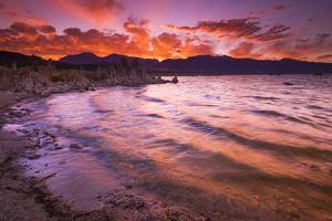 Sunset over the Sierra Nevada from Mono Lake, Mono Basin National Scenic Area, California, USA by Russ Bishop