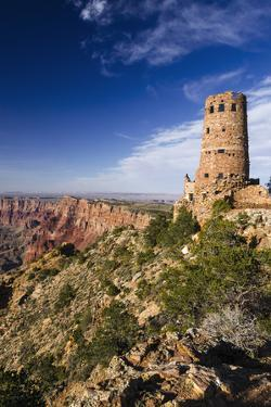 The Desert View Watchtower, Grand Canyon National Park, Arizona, USA. by Russ Bishop