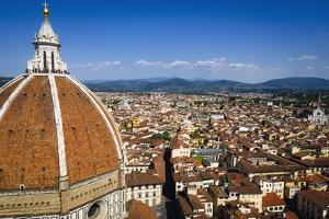 The Duomo dome from Giotto's Bell Tower, Florence, Tuscany, Italy by Russ Bishop