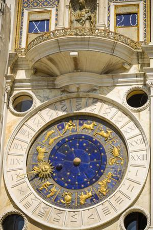 The Torre dell'Orologio in the Piazza San Marco, Venice, Veneto, Italy by Russ Bishop