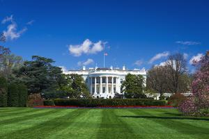 The White House and south lawn, Washington DC, USA by Russ Bishop