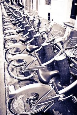 Velib Bicycles for Rent, Paris, France by Russ Bishop