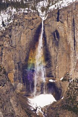 Yosemite Falls from Taft Point in winter, Yosemite National Park, California, USA by Russ Bishop