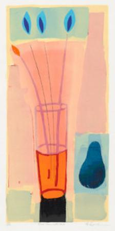 Blue Pear with Vase, 2000