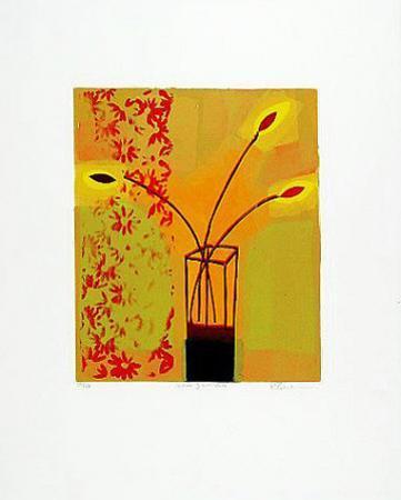 Yellow Glass Vase, 2000