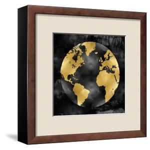 The Globe Gold on Black by Russell Brennan