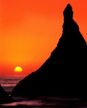Oregon, Bandon Beach Sunset by Russell Burden