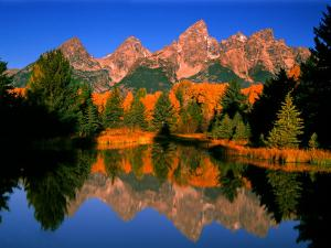Teton Range in Autumn, Grand Teton National Park, WY by Russell Burden