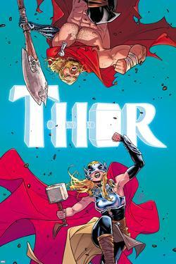 Thor No. 4 Cover, Featuring: Thor (female), Thor by Russell Dauterman