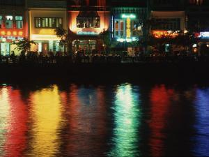 Night Spot at Boat Quay, Singapore by Russell Gordon