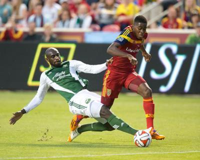 Apr 19, 2014 - MLS: Portland Timbers vs Real Salt Lake - Olmes Garcia, Mamadou Danso by Russell Isabella