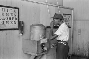 A segregated water fountain at Oklahoma City, 1939 by Russell Lee