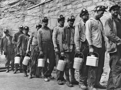 Coal Miners Checking in at Completion of Morning Shift. Kopperston, Wyoming County, West Virginia by Russell Lee